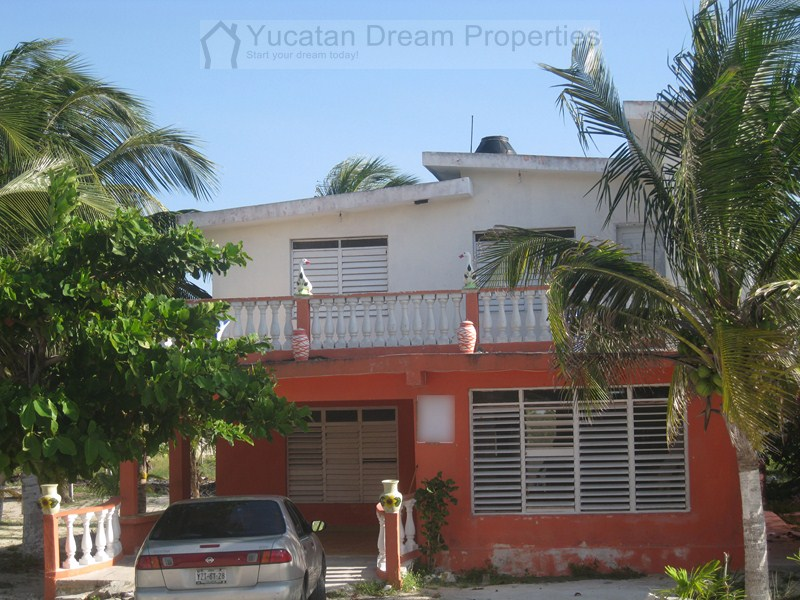 2 story beach home 2nd row chuburna yucatan yucatan for Two story beach house