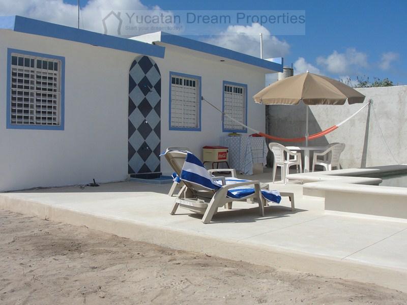 Beach house in Chicxulub 2nd row  +  pool