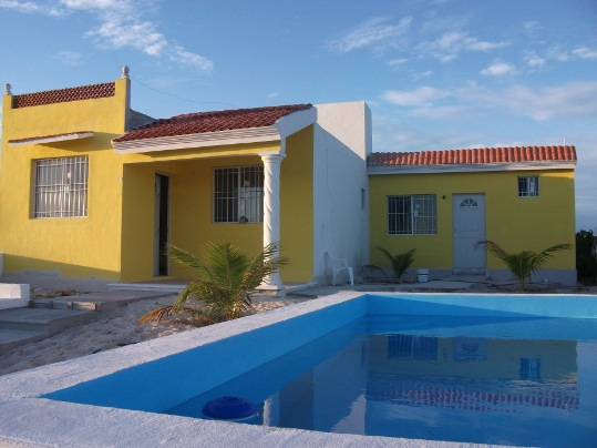 New beach house with pool in Chuburna, Yucatan Mexico
