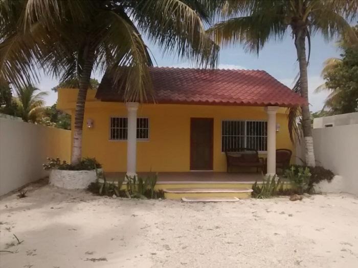 Neat Yellow House Beach